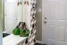Shoe Storage Ideas / Ideas for shoe clutter