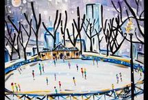 Paintings -- Winter. / We are very seasonal at The Paint Bar! Here is a selection of our Winter paintings.