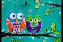 Paintings -- Kids. / We love having kids birthday parties joining us on the weekends! Here is a sample of our kids painting options.