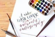Lettering / Brush, paint, calligraphy-all about lettering