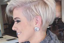 Волосы / Волосы стрижка цвет блондин брюнетка рыжая мода стиль