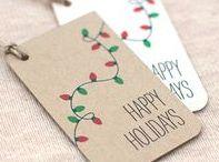 Christmas Gift Tag Ideas / Christmas gift tags. DIY gift tags. Recycled gift tags. Holiday gift tags.