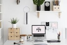 Workspace / Desk and office inspiration - the perfect place to blog.
