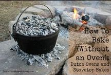 OFF GRID COOKING / Outdoor kitchens, dutch oven cooking, baking without an oven, Solar Oven baking and more!
