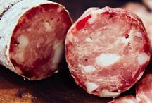 CHARCUTERIE / Home-cured, home raised meat. Sausages, salami, proscuitto, filletto, lardo, and more!