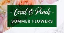 ORCHIDYA // Coral & Peach Summer Flowers