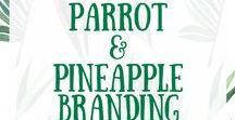 Parrot & Pineapple Brand Inspiration / I love tropical prints, parrots and well...pineapples. This board is the moodpboard for my business Parrot & Pineapple Photography. I love colours and fun. The images here represent the brand aesthetic and values of Parrot & Pineapple Wedding Photography.