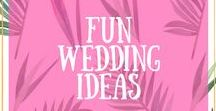 Fun Wedding Ideas / Parrot & Pineapple is all about fun, colour and love! I love discovering fun wedding ideas and this board is full of them. So if you're looking for something unique, alternative and quirky for your wedding - get inspiration here.