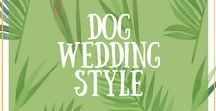 Dog Wedding Style / If your dog is a big part of your wedding day then this board is great for inspiration on what he/she could wear. From collars, bow ties and bandannas.