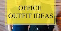 Office Outfit Ideas / Glamorous at the office. Casual outfits for work. Office wear idea.