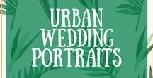 Urban Wedding Portraits / Wedding portraits in the urban jungle for cool quirky couples.
