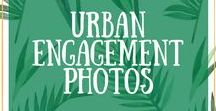 Urban Engagement Photos / Cool, quirky and alternative engagement portrait photographs of lovers in an urban world.