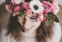 Couronnes de fleurs / Des idées de couronnes de fleurs pour les cheveux
