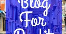 Blog For Profit / Blog tips to help you with starting a blog, figuring out what to blog about, choosing blog topics, finding the best blogging tools, using Pinterest tips to drive more traffic to a blog, and lots of other blogging tips for blog profits.