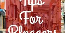 Tips For Bloggers / Blog tips to help you with starting a blog, figuring out what to blog about, choosing blog topics, finding the best blogging tools, using Pinterest tips to drive more traffic to a blog, and lots of other blogging tips.