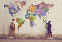 Weltkarte - Stadtkarte