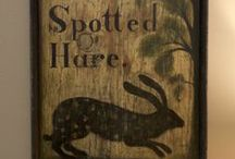 early signage / by Christine Crocker ~ Deerfield Farmhouse