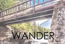|WANDER| / Sometimes all we need is a change of scenery to find inspiration. Forever pinning of new adventures.