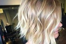 Short Hair Color / Short hairstyles with ombre, blonde, brown and different hair colors.