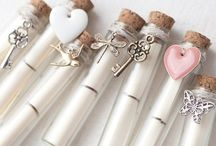 Bottled necklaces / Cute necklaces, home made from small bottles and filled with memories or creativity
