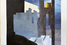 Collage gravure illustration / Ce tableau répertorie les réalisations de Lila Sénore.