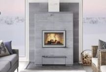 Tulikivi Soapstone Fireplaces - vuolukivitakat / Heat-retaining fireplaces made of soapstone by Tulikivi. The heat is restored in soapstone mass, which then releases the warmth slowly over a period of time.
