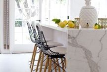 Natural Stone in Kitchen / Inspiration for using natural stone in kitchen spaces!