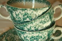Ironstone English Transferware / I've had a longtime love for ironstone, especially English Transferware in any color... Red, Green, Brown, Blue...