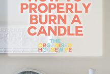 Candle Care / Believe it or not, there is a right and a wrong way to burn a candle! Check out tips, tricks, and common mistakes!
