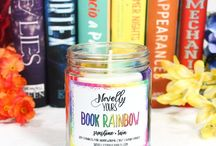 Book & Candle Rainbows / Rainbows are simply gorgeous and they get even better when you combine them with some candle goodness!