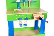 Jucării din lemn / Jucarii produse din lemn durabil, cu vopsele viu colorate, din magazinul Ștrumful Jucăuș