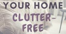 Declutter & Organize / Tips and hacks for home organization, decluttering, schedules, cleaning, routines etc.