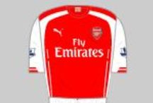 Arsenal Home Kit History / All graphics reproduced by kind permission of historicalfootballkits.co.uk. / by Arsenal Football Club