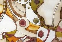 Silk & Clay / Design collaboration between us, Golem Design Studio and our friend silk painter Ganka Slavova