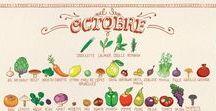 Fruits & légumes AUTOMNE / Parce qu'il est important de respecter la saisonnalité des produits, vous trouverez ici des recettes à base de fruits et légumes d'automne :)