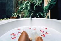 b a t h r o o m / time to submerge into the bubbles with a good book.