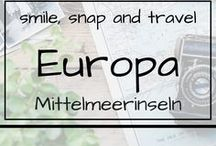 Europa | Mittelmeerinseln / Urlaub auf Malta, Ibiza, Korsika oder anderen schönen Inseln im Mittelmeer. Reiseempfehlungen, Tipps und Infos für die Reise, Outdoor, Architektur, Natur, Sehenswürdigkeiten, Sommer, Sonne, Strand und Meer. Travelblog