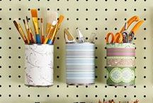 Home Office Organization / organization ideas, inspiration, and how-tos