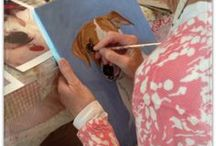 Women who art / Women artists gather together to paint, create and enjoy the friendship of kindred spirits. / by Cathie Carlson