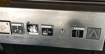 Elevator controls at Berlin S-Bahn stations