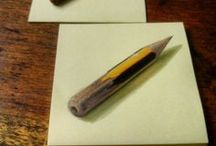 SERIE POSQUINS / Obras realizadas sobre papel de Post-it. Formato 7,5x7,5 cm. Óleo. Cada post-it se venderá a 10€