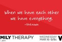 Family Therapy / Inspirational quotes about family and relationships.  Family Therapy WEDNESDAYS + 8/7c!