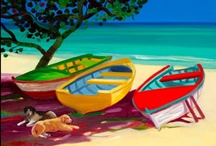 Art - Caribbean / Art and Culture - Caribbean - Beach Art - Sculpture - Traditional and Contemporary Painting -  Beach Themed - Driftwood - Crafts