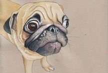 Pug Adoration  / I absolutely love and adore my two Pugs, Olive & Poppy.  / by Patricia Churchwell