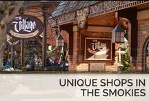 Unique Shops in the Smokies / Tucked away near some of the best shopping,Timber Top cabins provide you with a cozy, friendly environment with luxurious accommodations during your stay in Tennessee and are conveniently located near the downtown shopping malls and small shops.  / by Timber Tops Luxury Cabin Rentals