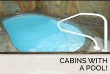 Cabins with a Pool! / Not only do these rentals give you a private place to swim during your stay, they also provide hours of free entertainment and opportunities to create new memories. This is perfect for parents and groups wanting to enjoy a memorable vacation while staying within their travel budget. / by Timber Tops Luxury Cabin Rentals