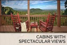 Cabins with Spectacular Views / Not only will this view help you unwind and relax during your tirp, it also makes for the perfect backdrop to any family photo or in-cabin event. / by Timber Tops Luxury Cabin Rentals