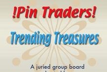 !Pin Traders! Trending Treasures - A juried group board hosted by www.Group2020.com / BOARD RULES:  For every pin you add to the board you must like and re-pin the item that was pinned before yours to one of your other boards, 8 pin a day limit, No dupes in the same day, Items must be for sale and include link, Pin only your own items, No spam, nudity or vulgarity, No politics, Only G2020 Board Admin can add new pinners,   To apply for a Guest Pinner invitation please e-mail your shop and pinterest links to Group2020 Admin at: group.2020@yahoo.com Thank you and Happy Pinning!