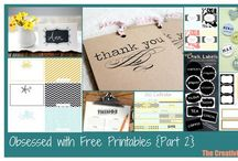 Crafts - (Free) Printablea / by Cathy Dods Wood