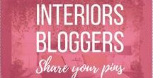 Interiors Bloggers: Share Your Pins / Open to all interiors bloggers! A place for bloggers to share their pins & posts relating to: interiors, home decor, interior styling / design / decoration, home DIY s, renovations and redesigns. To be added, please follow my account and this board, then message me or email rosannaaliciadesign@gmail.com with your Pinterest username. Rx